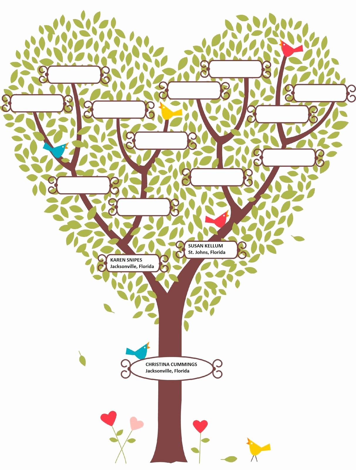 Simple Family Tree Template Elegant Simple Family Tree Designs