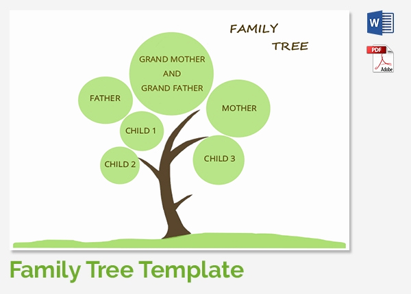 Simple Family Tree Template Lovely 25 Family Tree Templates Free Sample Example format