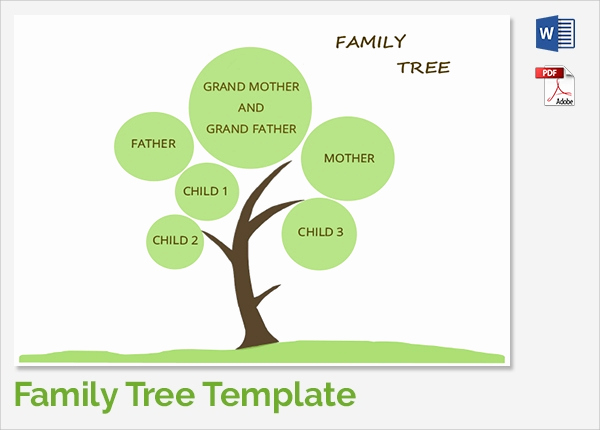 Simple Family Tree Template Lovely Sample Family Tree Chart Template 17 Documents In Pdf