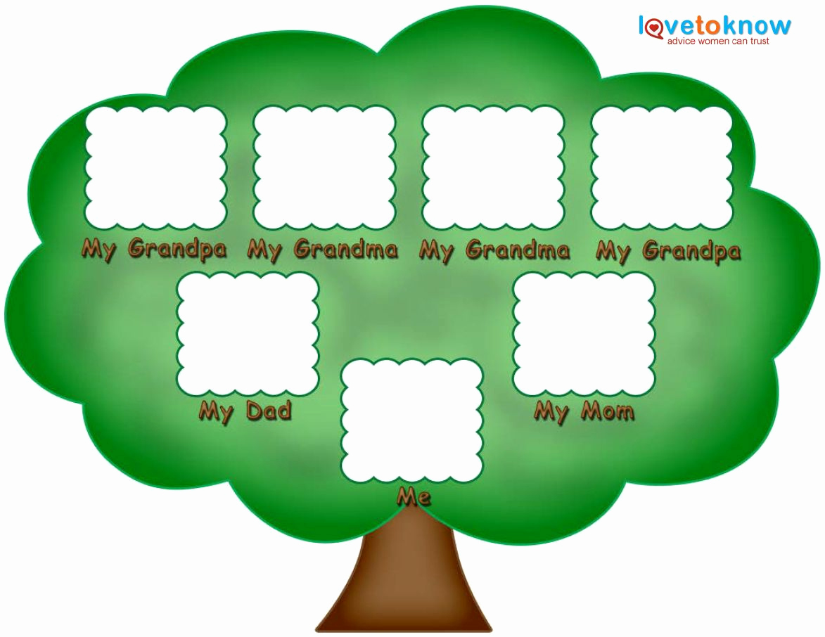 Simple Family Tree Template Luxury Preschool Family Tree Family Tree Kids
