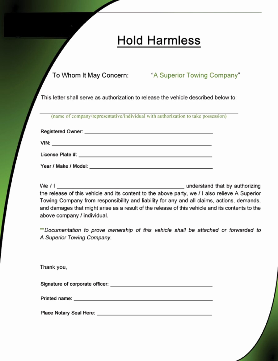 Simple Hold Harmless Agreement Beautiful 40 Hold Harmless Agreement Templates Free Template Lab
