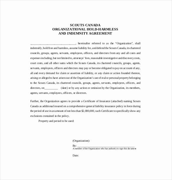 Simple Hold Harmless Agreement Beautiful Hold Harmless Agreement Template – 14 Free Word Pdf