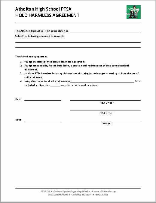 Simple Hold Harmless Agreement Luxury 43 Free Hold Harmless Agreement Templates Ms Word and Pdfs