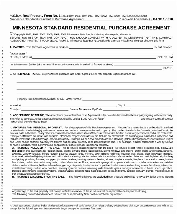 Simple Home Purchase Agreement Awesome 65 Simple Agreements