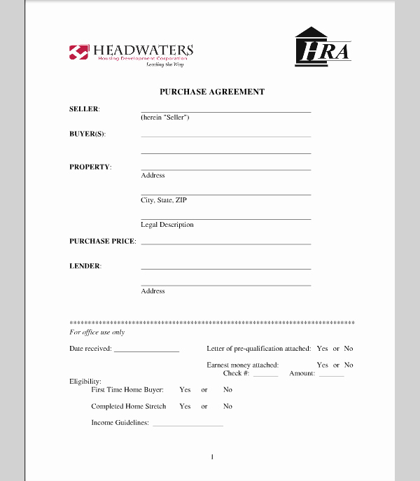 Simple Home Purchase Agreement Fresh Purchase Template for House Agreement Sample Of House