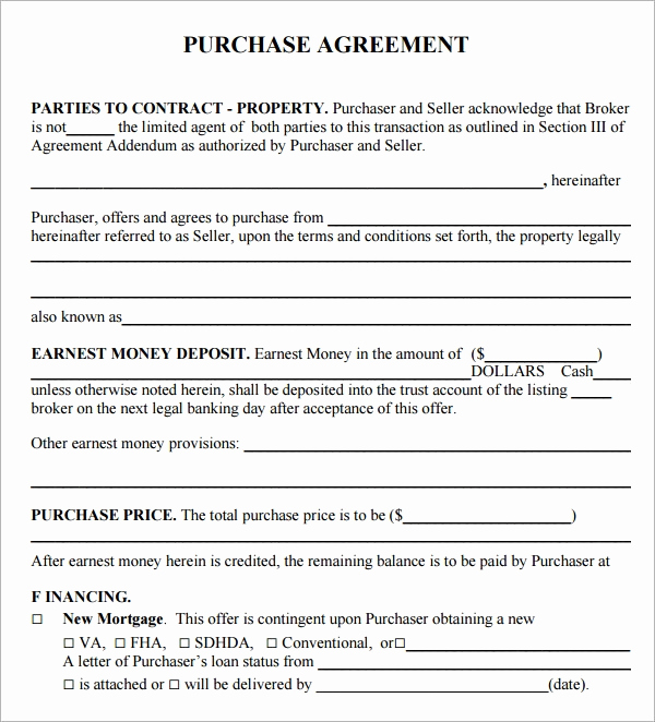 Simple Home Purchase Agreement Inspirational Purchase Agreement 15 Download Free Documents In Pdf Word