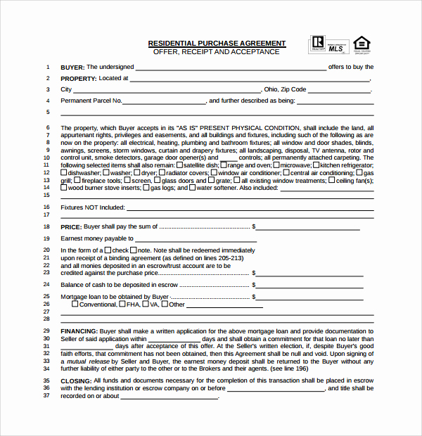 Simple Home Purchase Agreement Unique Fer to Purchase Real Estate Pdf – Laustereo
