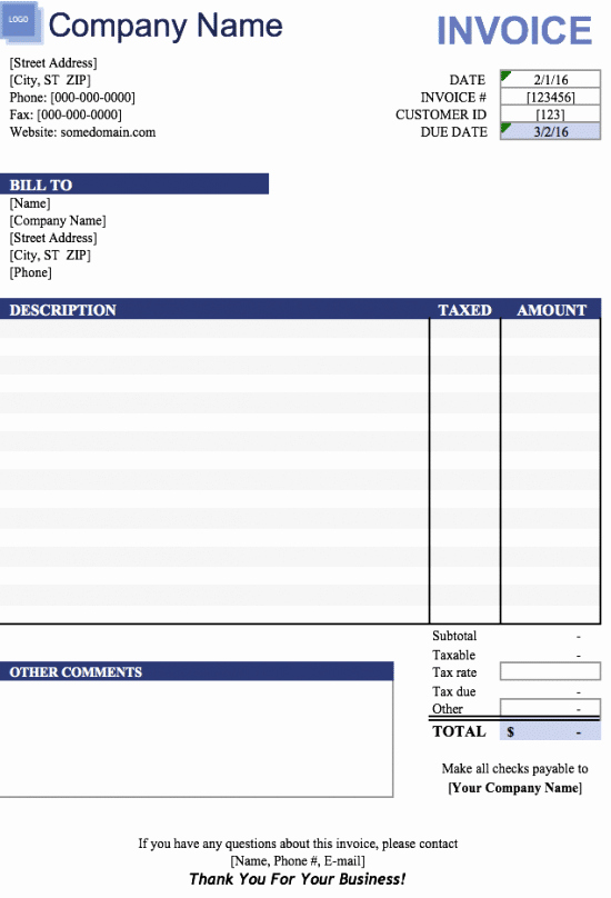 Simple Invoice Template Excel Beautiful Free Free Blank Invoice Templates In Microsoft Excel Xlsx