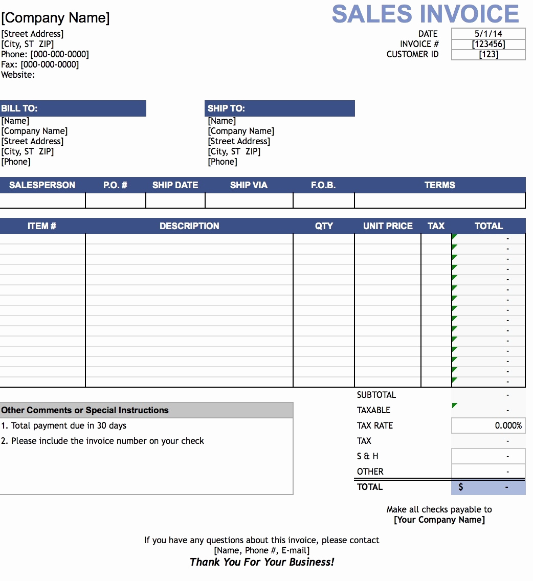 Simple Invoice Template Excel Beautiful Sales Invoices Should Be Invoice Template Ideas