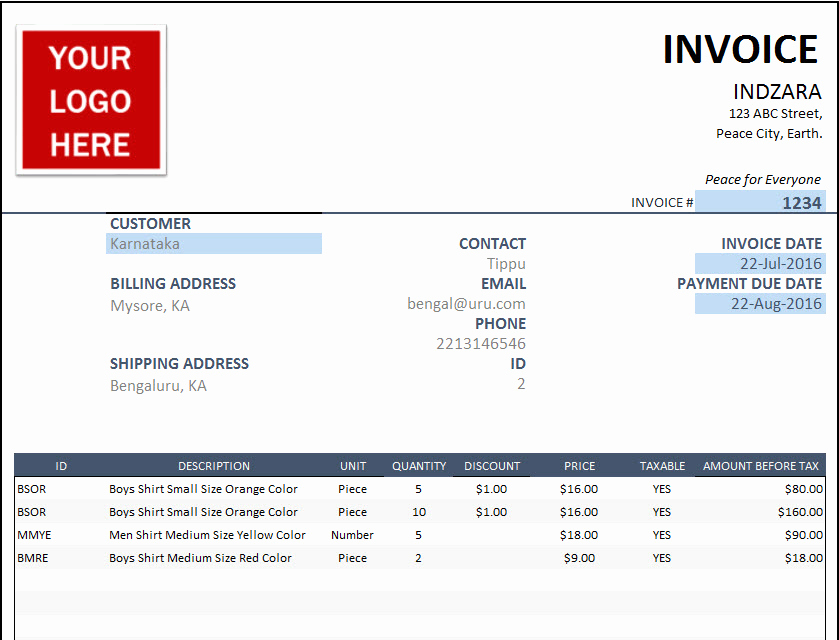 Simple Invoice Template Excel Best Of 25 Free Invoice Template Professional and Simple Documents