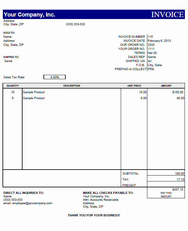 Simple Invoice Template Excel Fresh Blank Invoice Templates for Mac
