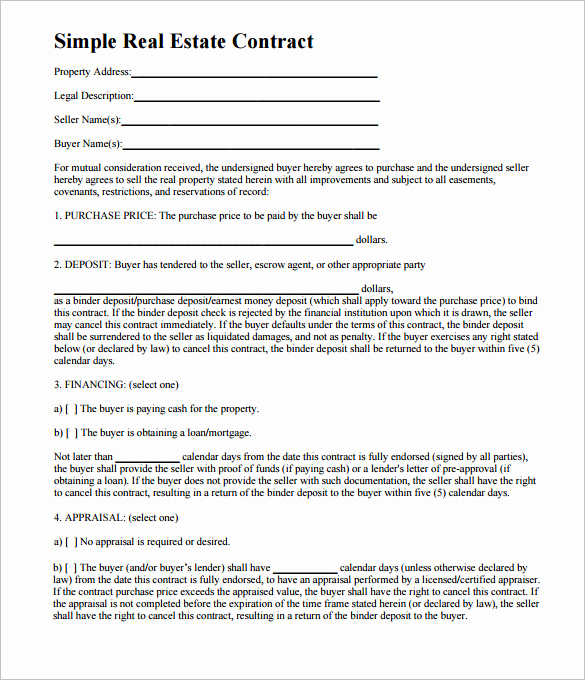 Simple Land Purchase Agreement form Best Of Simple Land Purchase Agreement form