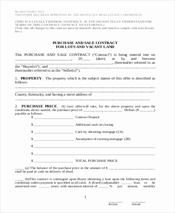 Simple Land Purchase Agreement form Fresh Sample Land Sales Contract 6 Examples In Word Pdf
