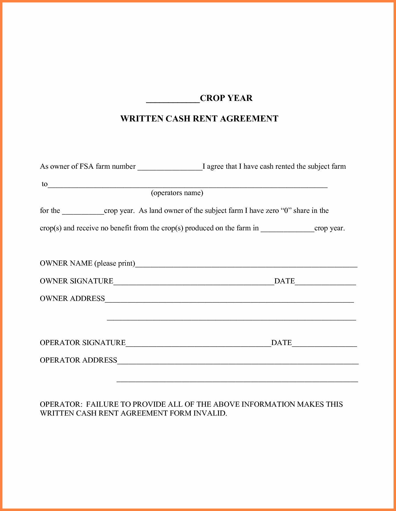 7 owner operator lease agreement template