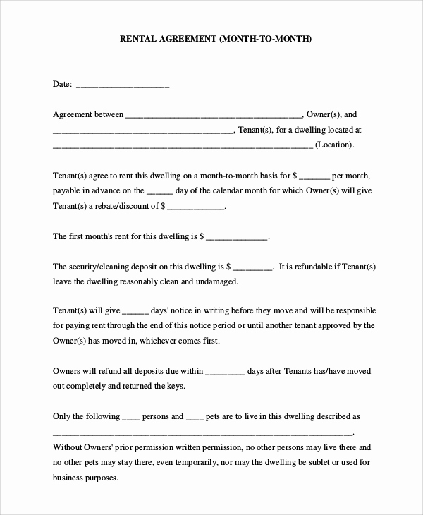 Simple Lease Agreement Pdf Awesome 17 Simple Rental Agreements