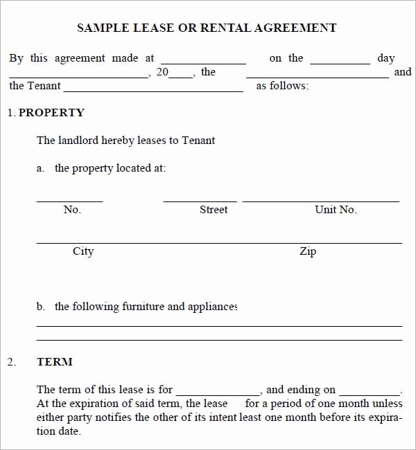 Simple Lease Agreement Pdf New 5 Free Lease Agreement Templates Excel Pdf formats