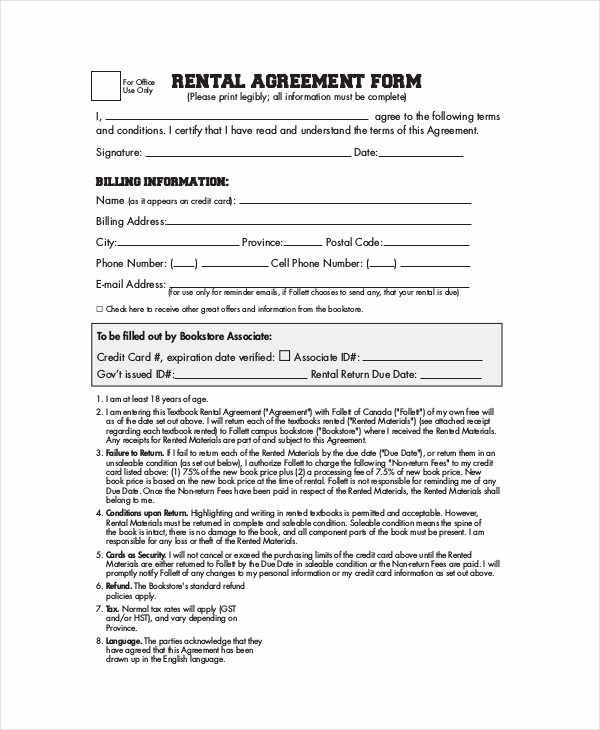 Simple Lease Agreement Pdf New Simple Rental Agreement 33 Examples In Pdf Word