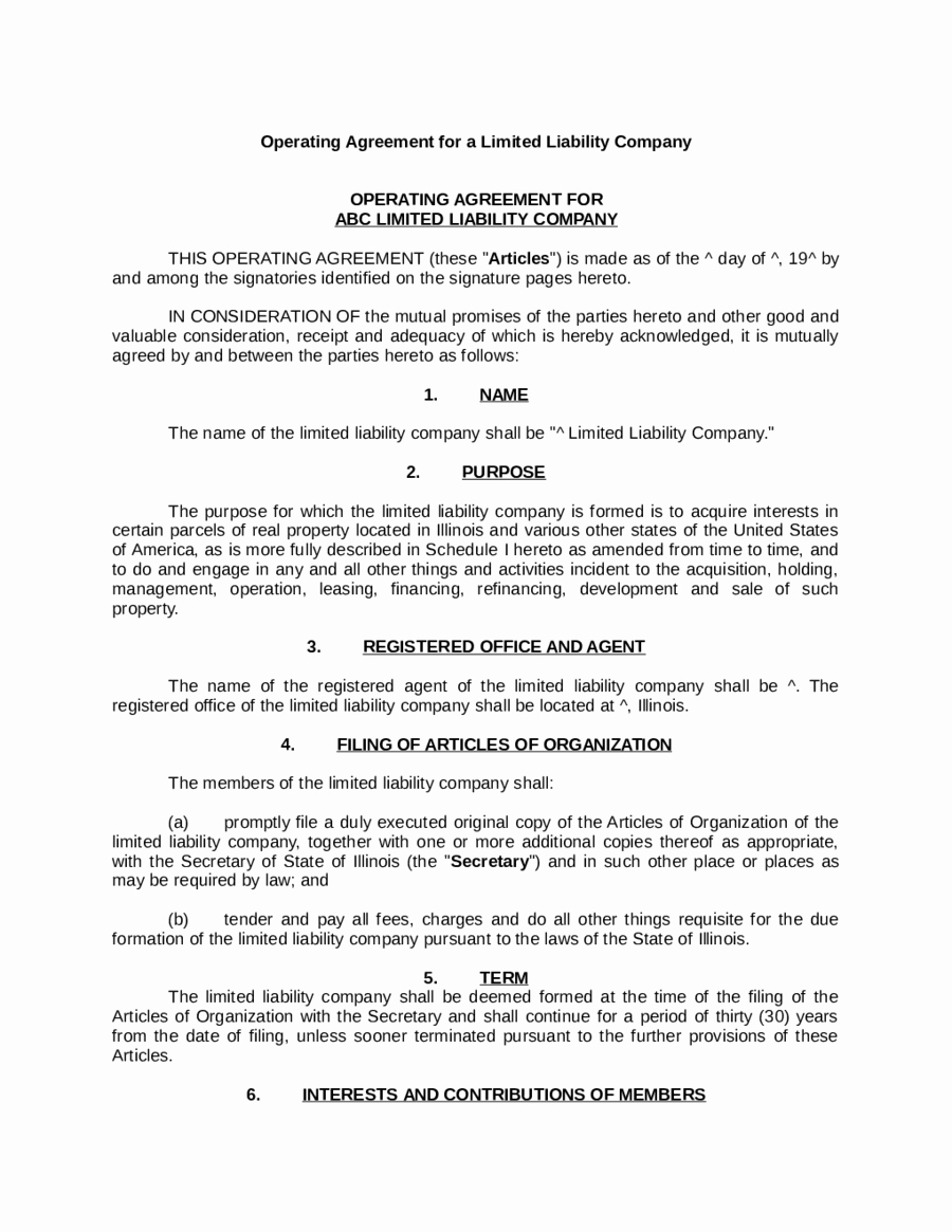 Simple Llc Operating Agreement Awesome Llc Operating Agreement What is An Llc