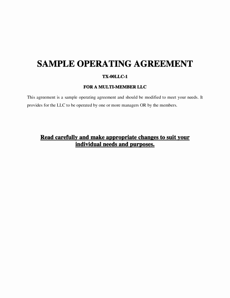 Simple Llc Operating Agreement Beautiful 2019 Llc Operating Agreement Template Fillable
