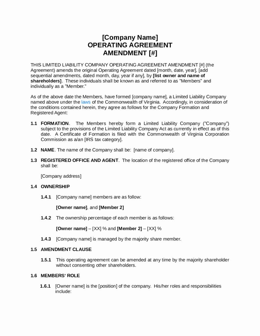 Simple Llc Operating Agreement Beautiful Simple Llc Operating Agreement Template Edit Fill Sign