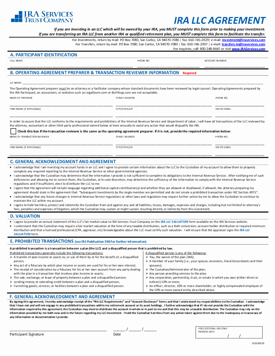 Simple Llc Operating Agreement New 2018 Llc Operating Agreement Template Fillable
