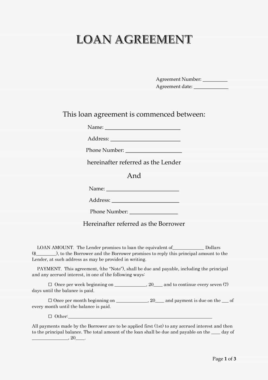 Simple Loan Agreement Pdf Awesome 40 Free Loan Agreement Templates [word & Pdf] Template Lab