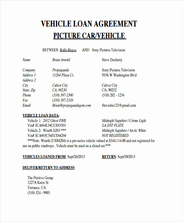 Simple Loan Agreement Pdf Beautiful Loan Agreement form Example 65 Free Documents In Word Pdf