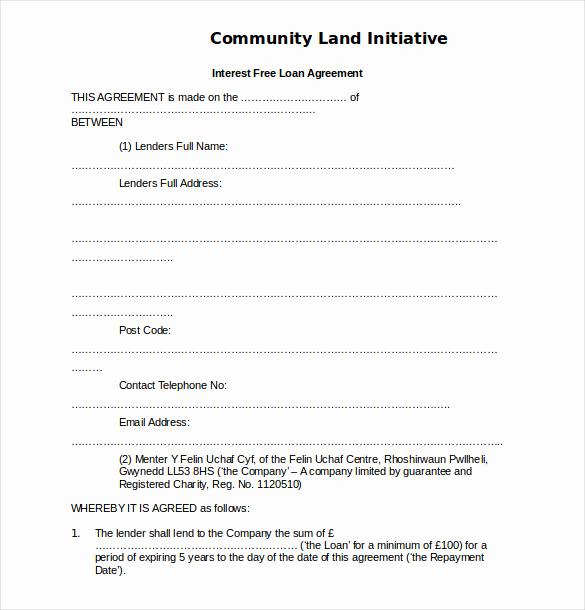 Simple Loan Agreement Pdf Fresh 19 Loan Agreement Templates – Free Word Pdf format