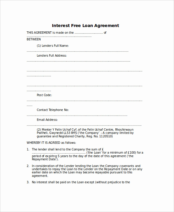 Simple Loan Agreement Pdf Unique Loan Agreement Template 17 Free Word Pdf Document