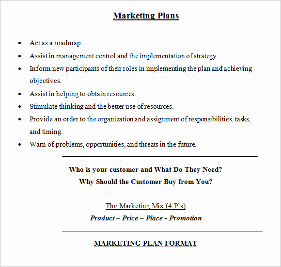 Simple Marketing Plan Template Best Of Sample Marketing Plan 18 Examples format
