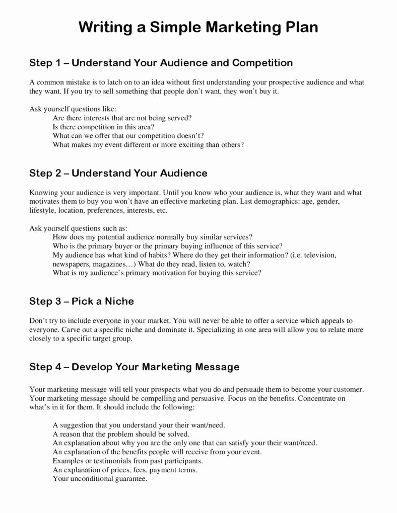 Simple Marketing Plan Template Inspirational 7 Best Marketing Plan Templates