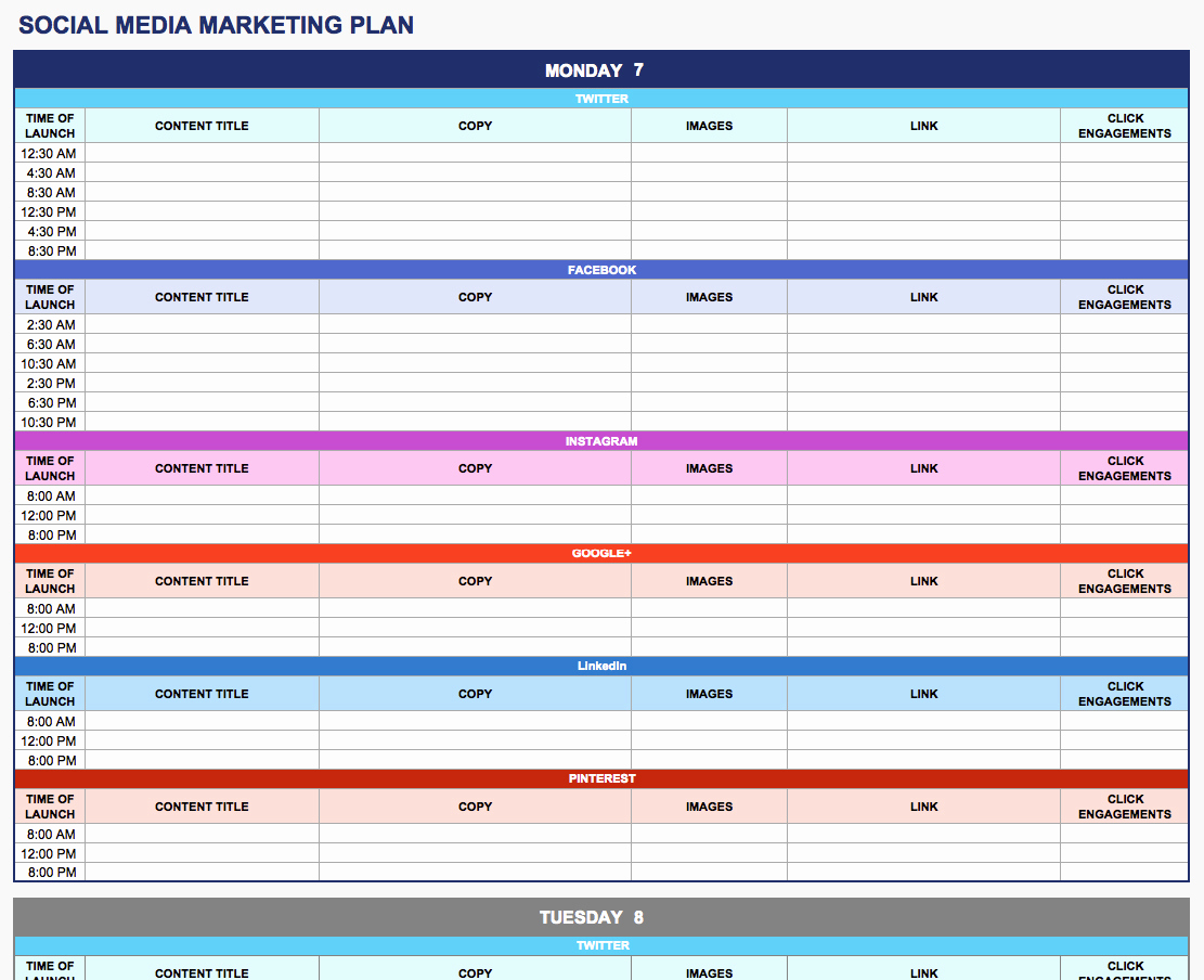 Simple Marketing Plan Template Inspirational Free Marketing Plan Templates for Excel Smartsheet
