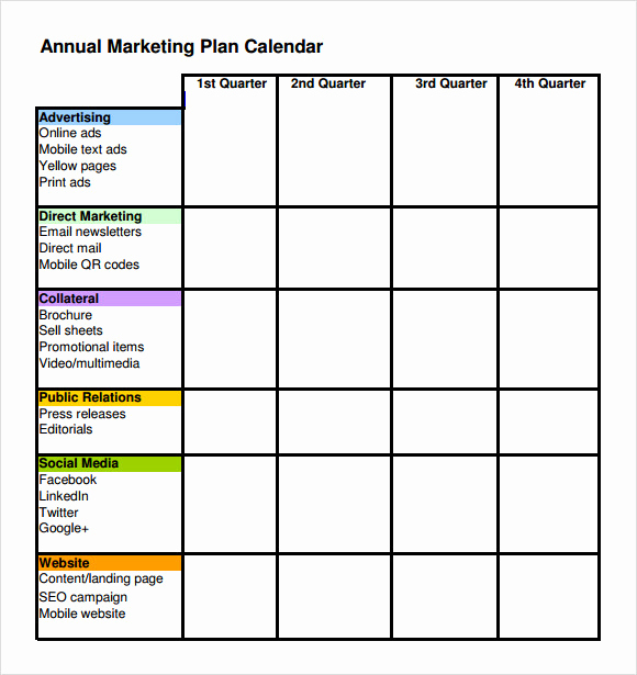 Simple Marketing Plan Template Inspirational Sample Marketing Schedule Template 5 Free Documents