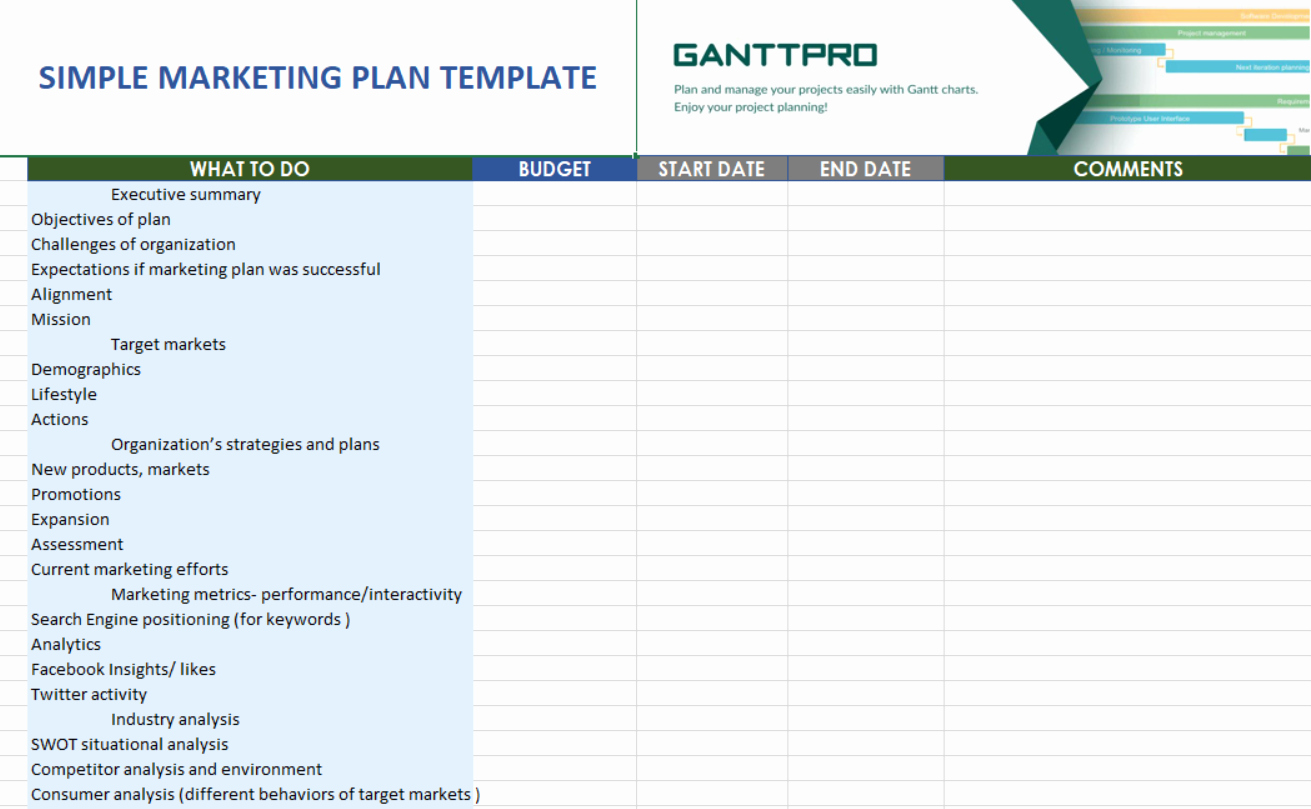 Simple Marketing Plan Template Lovely Simple Marketing Plan Template Free Download