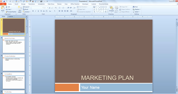 Simple Marketing Plan Template Luxury Free Marketing Plan Template for Powerpoint Presentations