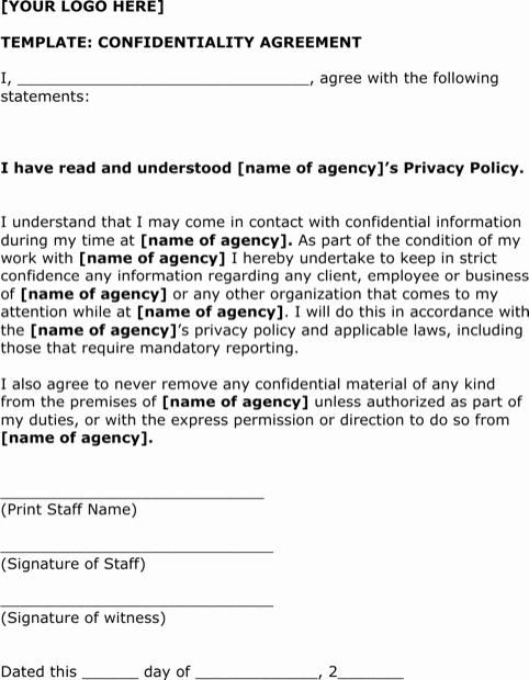 Simple Non Disclosure Agreement Awesome Download Simple Non Disclosure Agreement form for Free