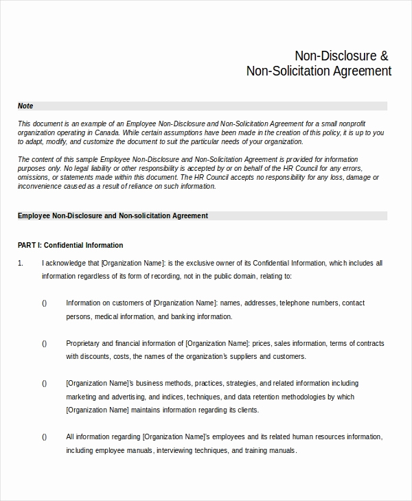 Simple Non Disclosure Agreement Awesome Simple Non Disclosure Agreement form – 13 Free Word Pdf