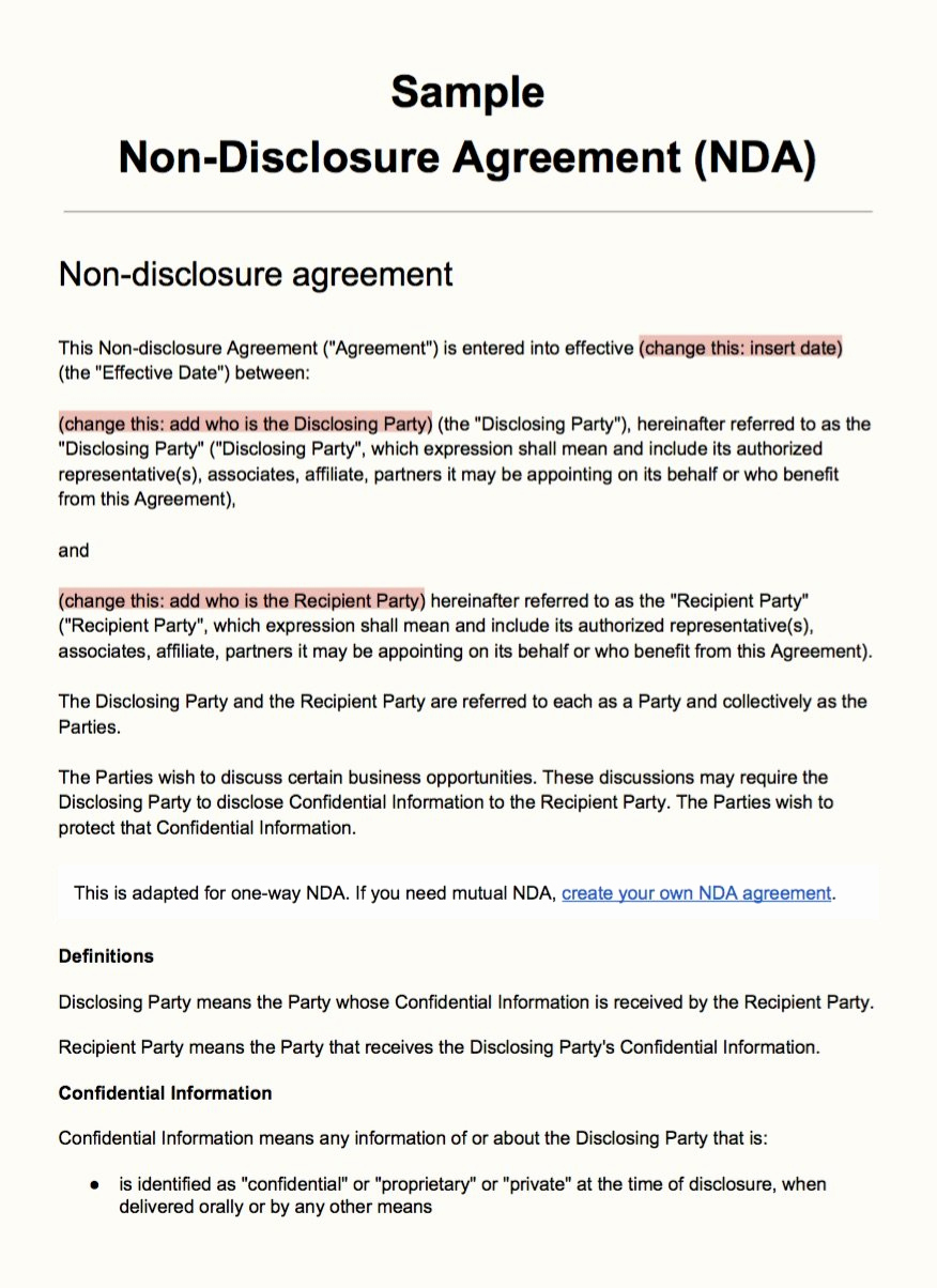 Simple Non Disclosure Agreement Lovely Sample Non Disclosure Agreement Template Everynda
