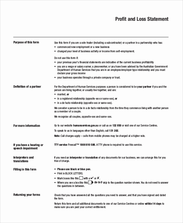 Simple Profit and Loss Statements Awesome Sample Profit and Loss Statement 14 Documents In Pdf