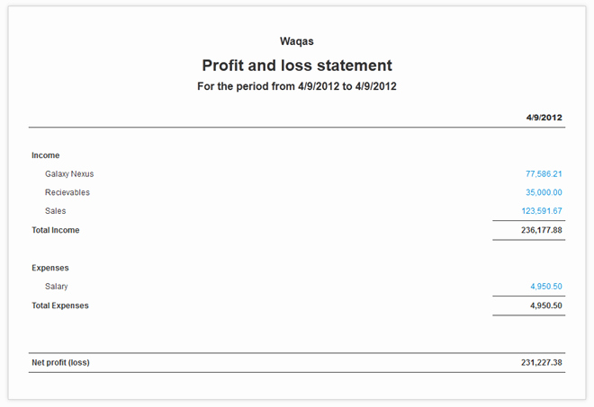 Simple Profit and Loss Statements Elegant Manager Portable Prehensive solution to Manage