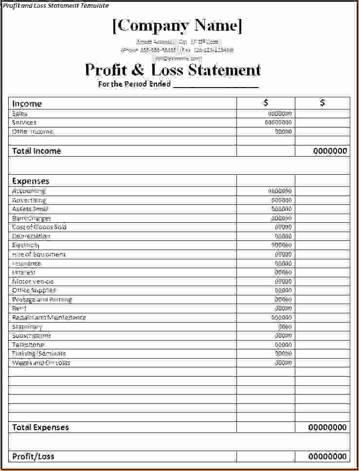 Simple Profit and Loss Template Elegant 7 Simple Profit and Loss Template Procedure Template