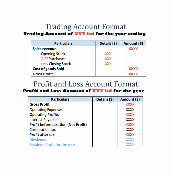 Simple Profit and Loss Template New 20 Sample Profit and Loss Templates Docs Pdf Apple