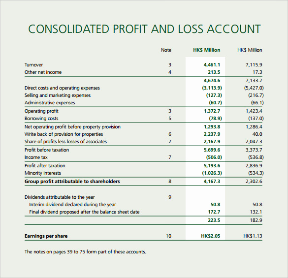 Simple Profit and Loss Template Unique Profit and Loss Template 20 Download Free Documents In