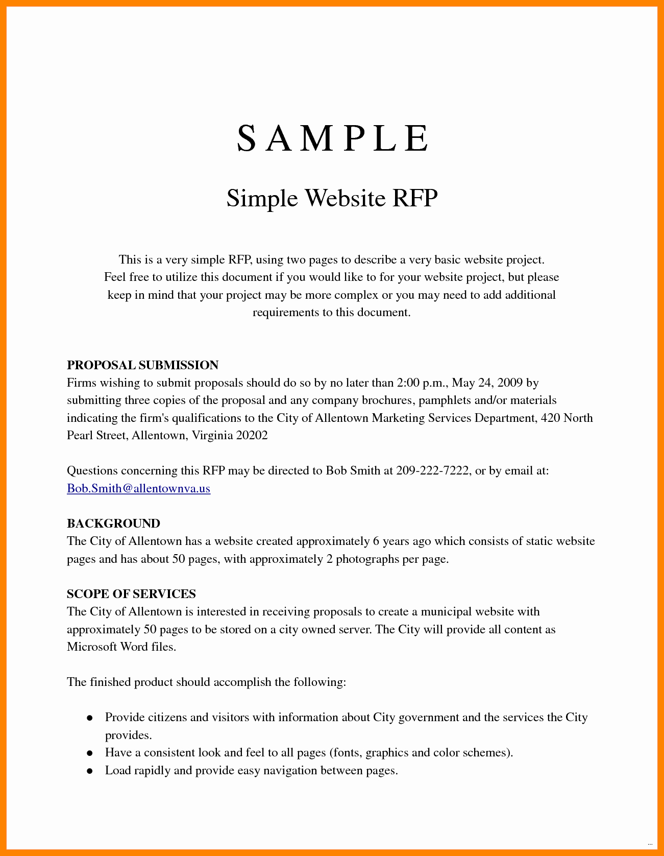 Simple Project Proposal Example Fresh Simple Project Proposal Example