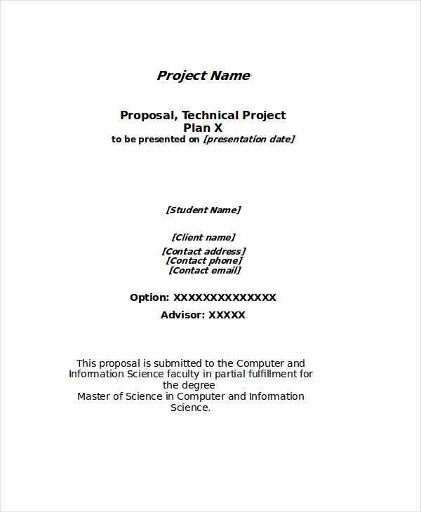 Simple Project Proposal Example Inspirational Project Proposal Template 24 Free Word Pdf Psd