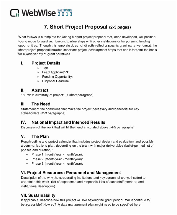 Simple Project Proposal Example Luxury 36 Simple Proposal formats Examples Pdf Doc Pages