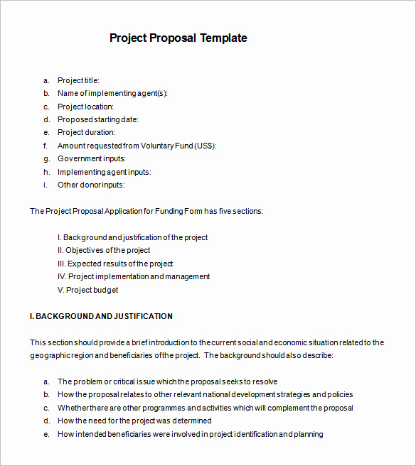 Simple Project Proposal Example Luxury Proposal Templates 170 Free Word Pdf format Download