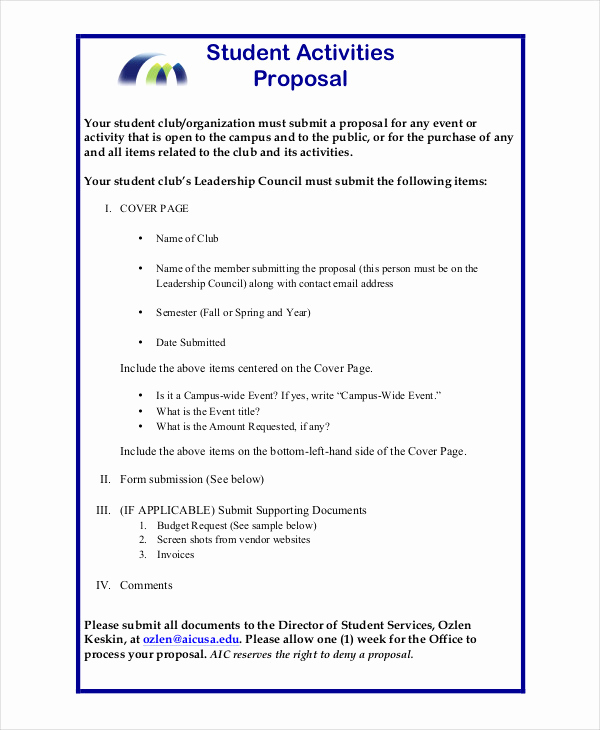 Simple Project Proposal Example Luxury Simple Project Proposal Example