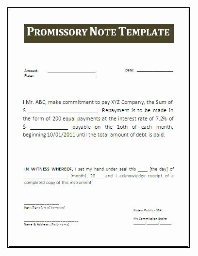 Simple Promissory Note Sample Best Of 38 Promissory Note Templates Free Download