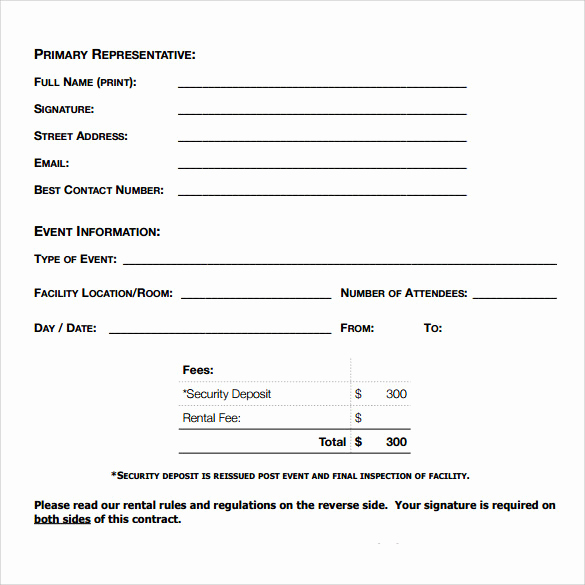 Simple Rental Agreement Pdf Best Of 8 Blank Rental Agreements – Samples Examples & formats